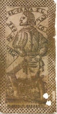 Back of Agnolo Hebreo Devil Card