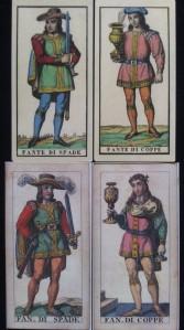 Edoardo Dotti tarot four Page court cards
