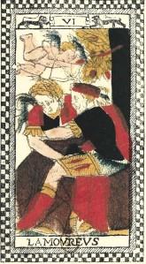 Tarot de Paris amoreux Love card