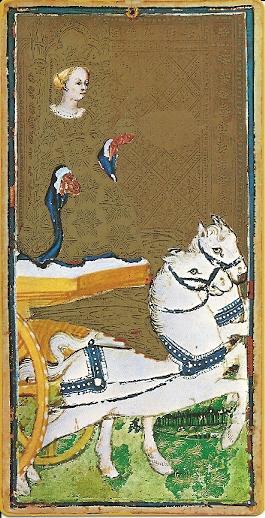Visconti Sforza Chariot Tarot card