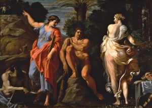Hercules at the Crossroads by Annibale Carracci, 1596