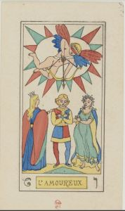 Oswald With Tarot L'Amoureux card