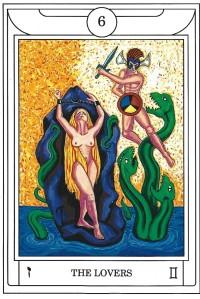 The Golden Dawn Magical Tarot Lovers Card