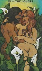 Morgan Greer Tarot Lovers card