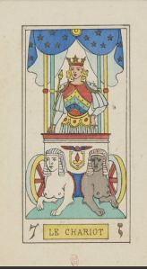 Oswald Wirth Chariot tarot card